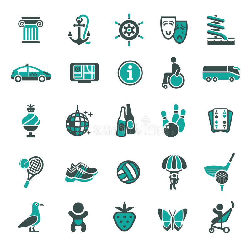 Download Signs. Recreation, Travel & Vacation. Fourth Set. Stock Photo - Image: 20008320