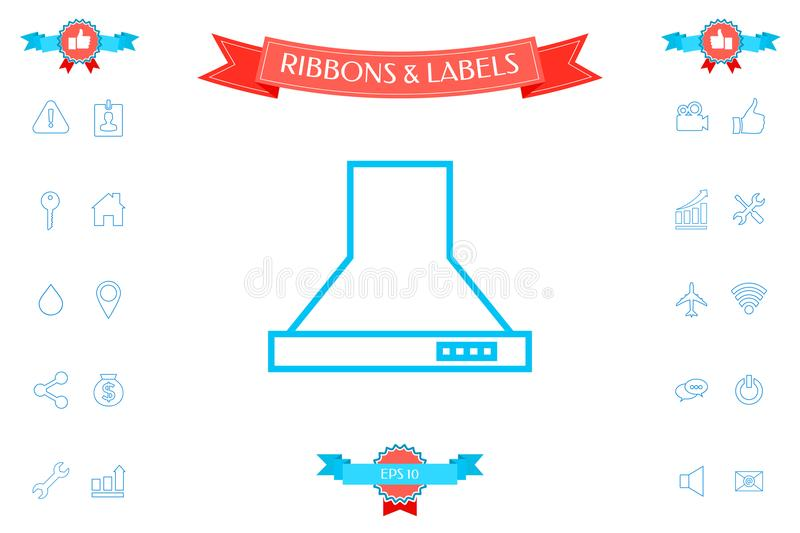 Kitchen Hood Linear Icon Stock Vector Illustration Of Long 114888579
