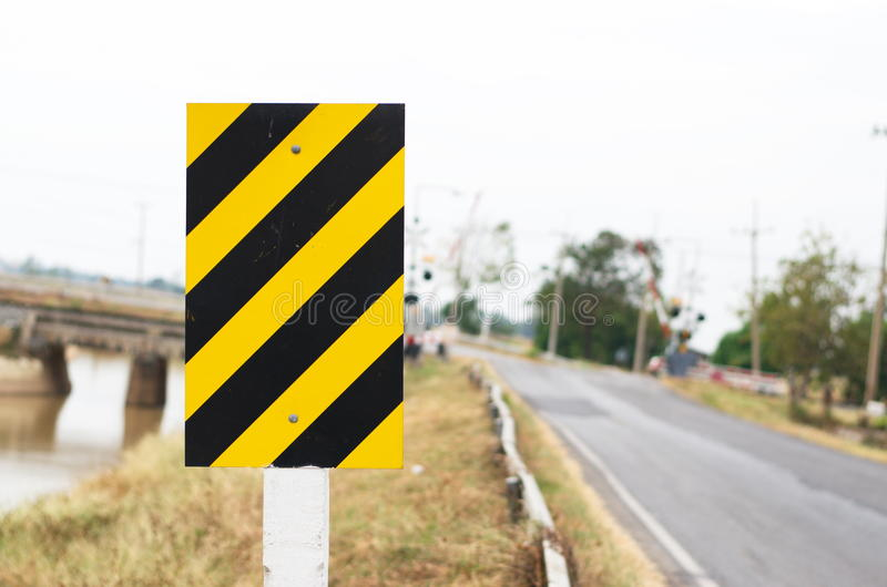 Signs and Symbols. Traffic routing and alert on the road to the vehicle royalty free stock photos