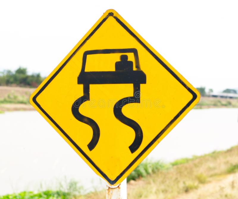 Signs and Symbols. Traffic routing and alert on the road to the vehicle royalty free stock images