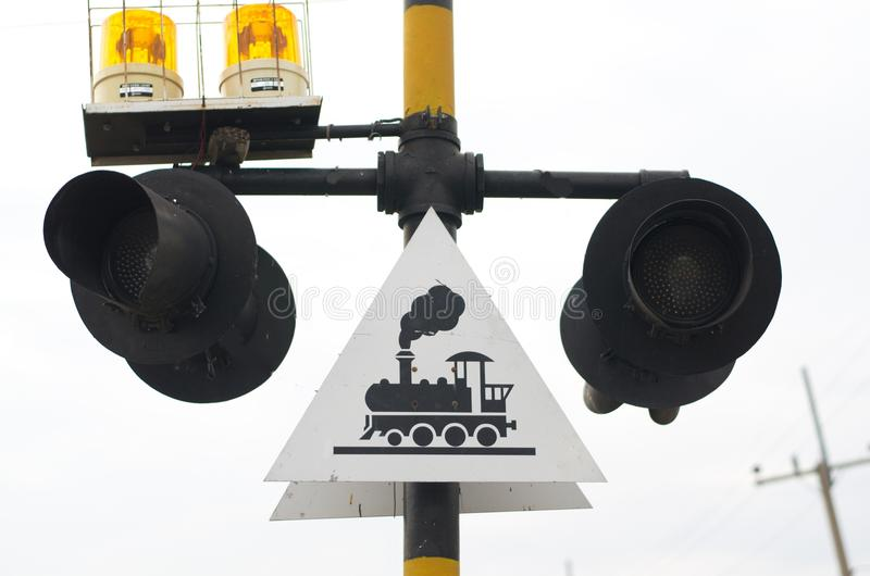 Signs and Symbols. Traffic routing and alert on the road to the vehicle stock photo