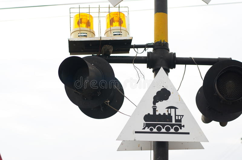 Signs and Symbols. Traffic routing and alert on the road to the vehicle royalty free stock photo