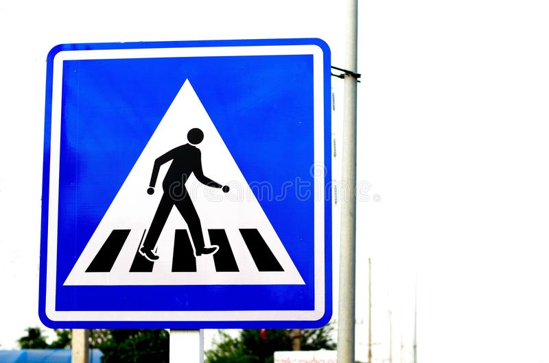 Signs and Symbols. Traffic routing and alert on the road to the vehicle stock photos
