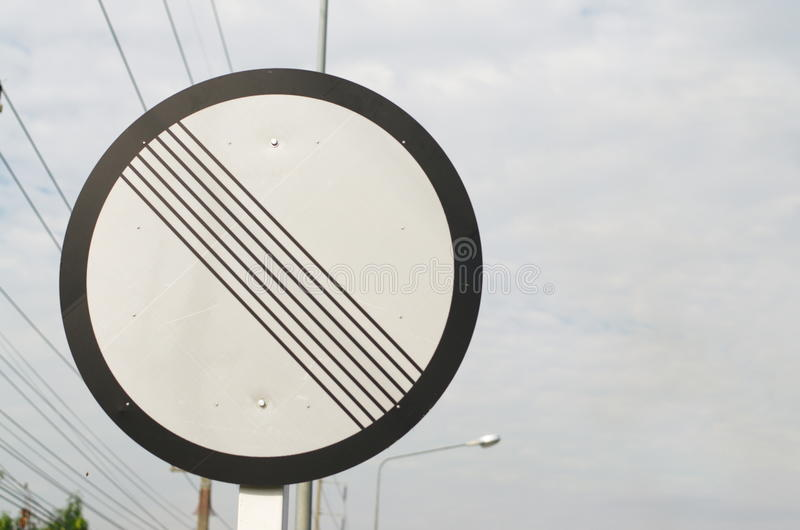 Signs and Symbols. Traffic routing and alert on the road to the vehicle stock images