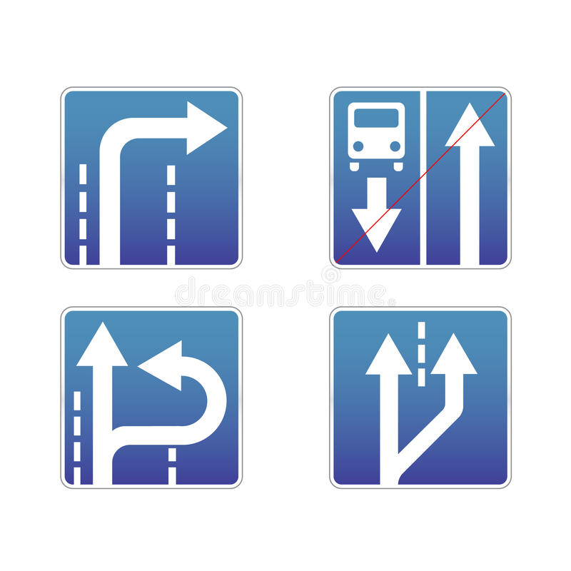 Download Signs traffic stock vector. Image of mark, direction - 17295845