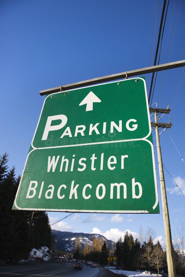 Download Signs For Whistler Blackcomb. Stock Photos - Image: 2045083