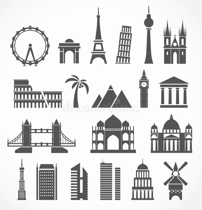 Signts di fama mondiale illustrazione di stock