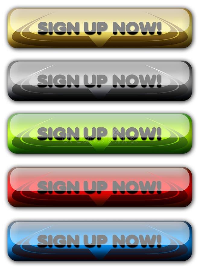 signup знака регистра кнопки учета вверх по сети