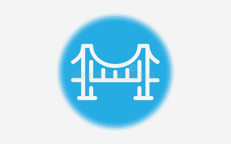 Signy Symbol der Brückenvektor-Ikone stock abbildung