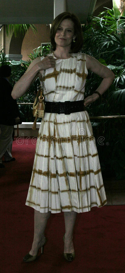 Sigourney Weaver. At the 2004 Crest Whitestrips Style Awards held at the at Beverly Hills Hotel in Beverly Hills, California, United States on June 16, 2004 royalty free stock photo