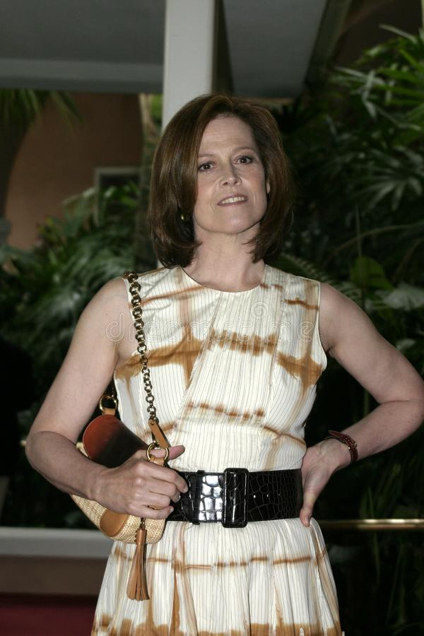 Sigourney Weaver. At the 2004 Crest Whitestrips Style Awards held at the at Beverly Hills Hotel in Beverly Hills, California, United States on June 16, 2004 stock images