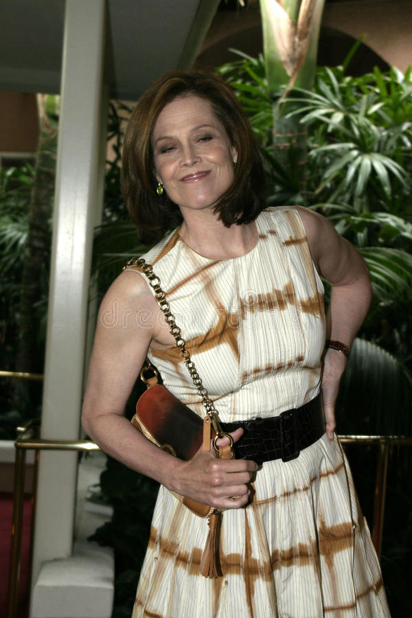 Sigourney Weaver. At the 2004 Crest Whitestrips Style Awards held at the at Beverly Hills Hotel in Beverly Hills, California, United States on June 16, 2004 royalty free stock photography