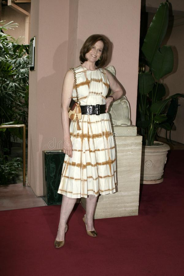 Sigourney Weaver. At the 2004 Crest Whitestrips Style Awards held at the at Beverly Hills Hotel in Beverly Hills, California, United States on June 16, 2004 royalty free stock image