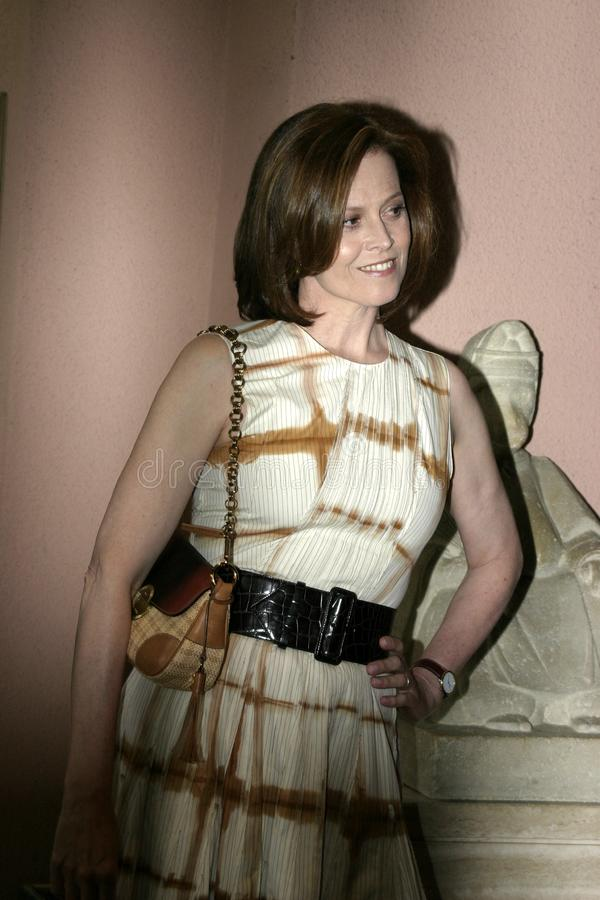 Sigourney Weaver. At the 2004 Crest Whitestrips Style Awards held at the at Beverly Hills Hotel in Beverly Hills, California, United States on June 16, 2004 stock image