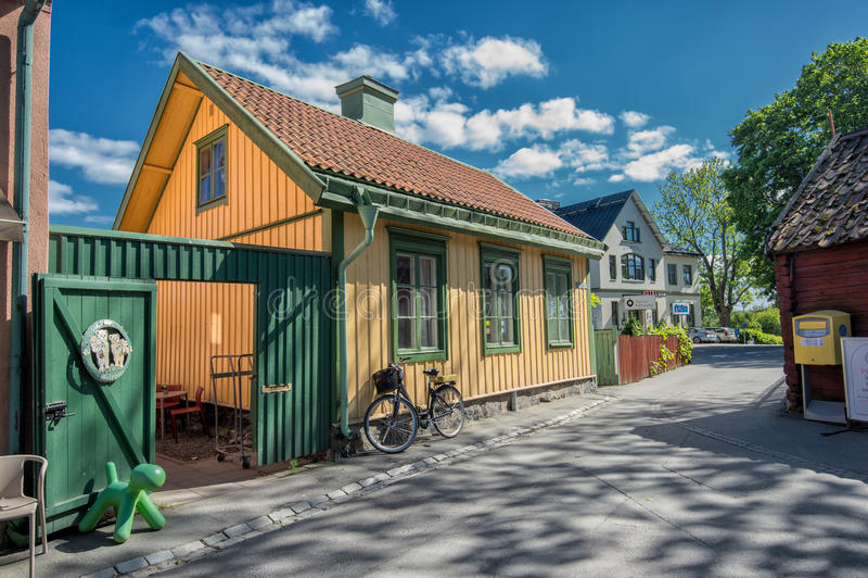 Sigtuna - самый старый городок в Швеции стоковое фото rf