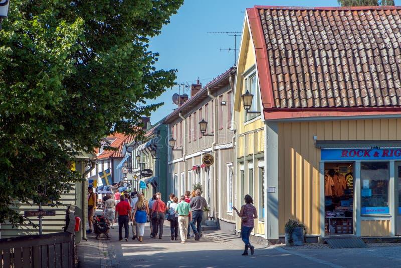 Sigtuna - самый старый городок в Швеции стоковые фотографии rf