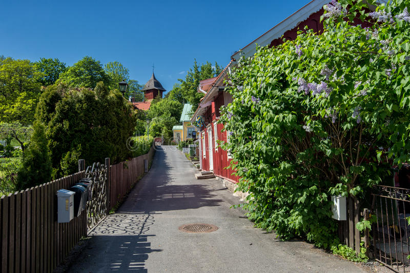 Sigtuna - de oudste stad in Zweden stock foto's