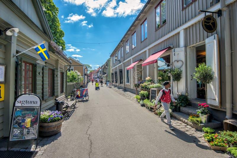 Sigtuna - die älteste Stadt in Schweden lizenzfreie stockbilder
