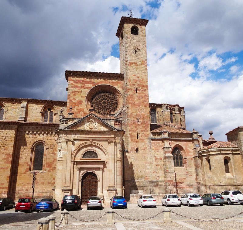 Siguenza Cathedral, Spain stock photography
