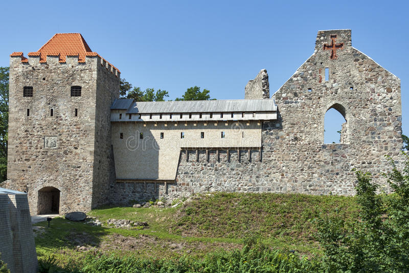 Sigulda Medieval Castle stock photography