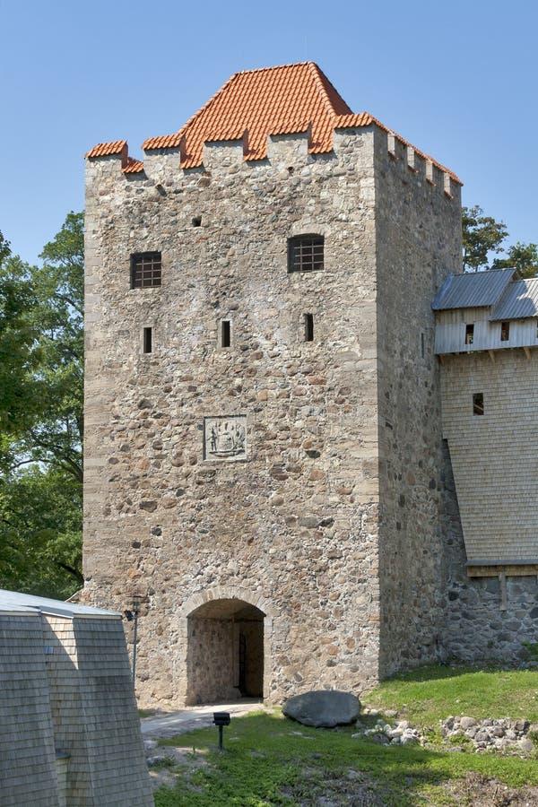 Sigulda Medieval Castle royalty free stock photo