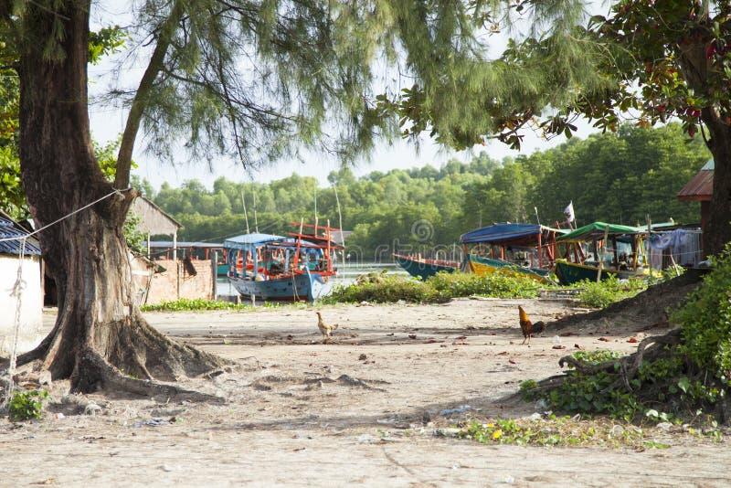 Sihanoukville, Cambodia. Boats on the beach in Sihanoukville, Cambodia stock photos
