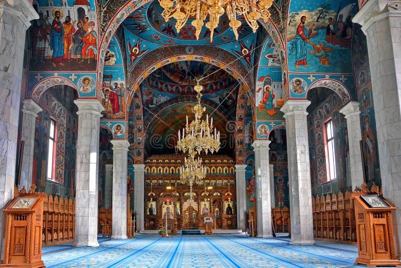 Sihastria修道院罗马尼亚 图库摄影
