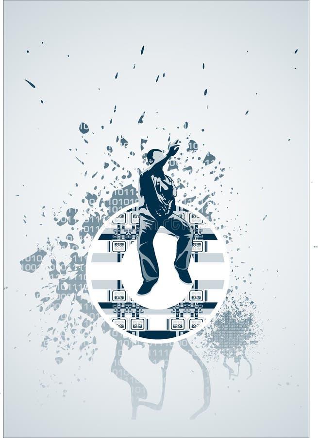 Sihouette auf grunge Hintergrund lizenzfreie stockbilder