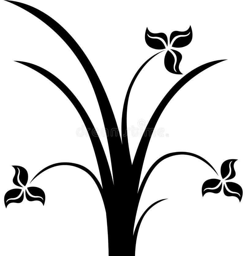 sihouette de fleur illustration de vecteur