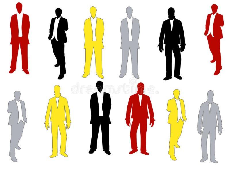 Sihouettes d'hommes illustration libre de droits