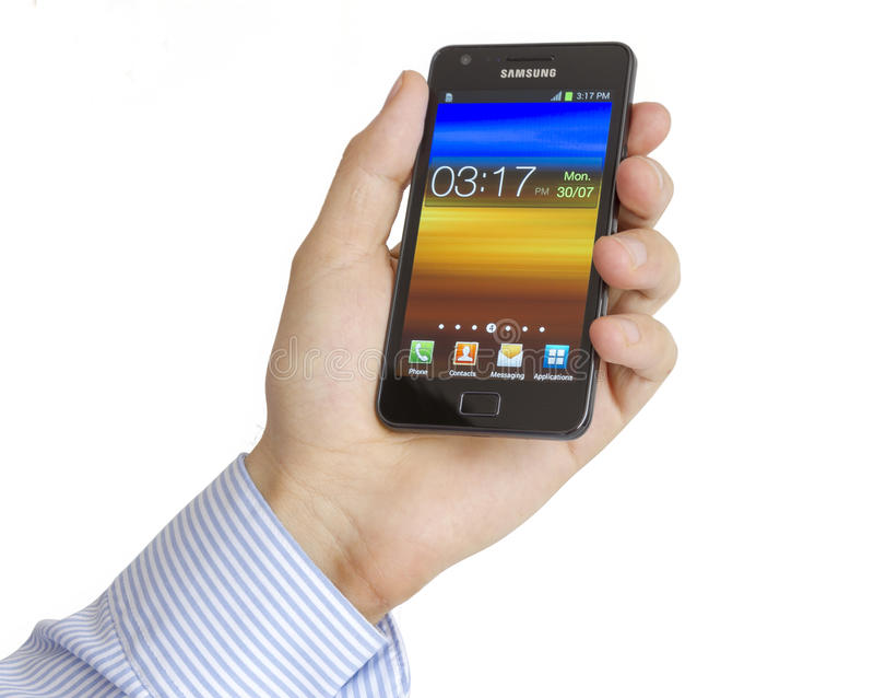 SII de la galaxia de Samsung imagen de archivo