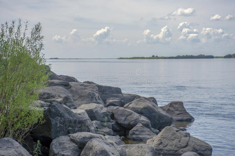 Sikachi-Alyan. View of the Amur river. Russia. Sikachi-Alyan. View of the Amur river royalty free stock images