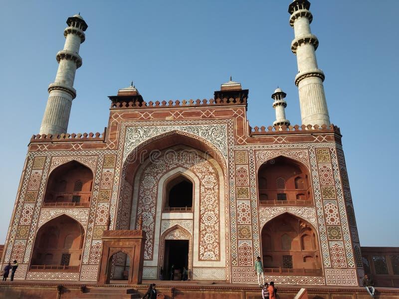 Sikandra Agra de la tumba de Akbar, fotografía de archivo libre de regalías
