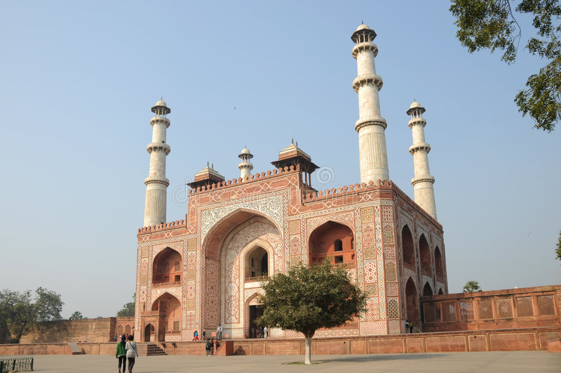 Download Sikandra gateway stock image. Image of motif, mughal, islam - 7845413