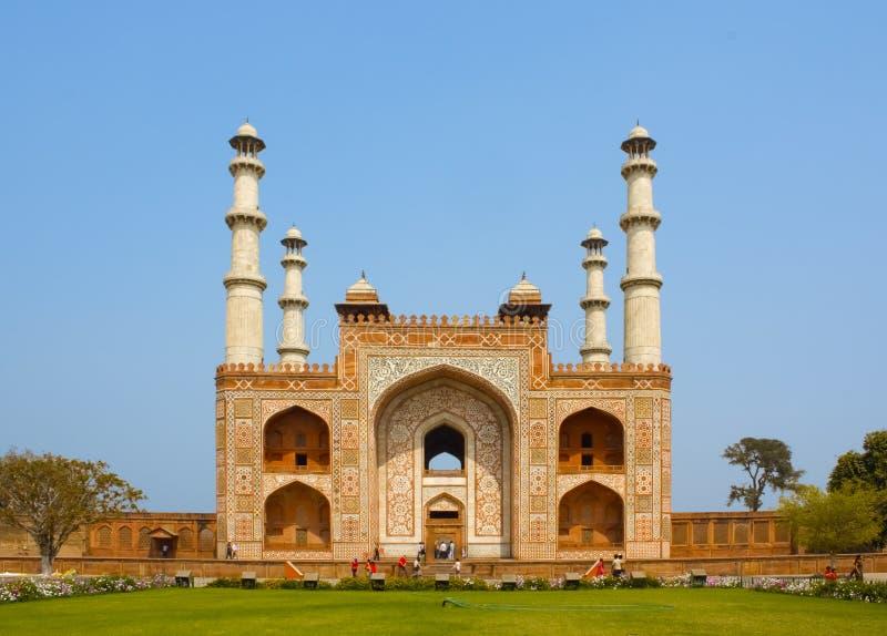 Sikandra, tumba de Akbar fotos de archivo libres de regalías