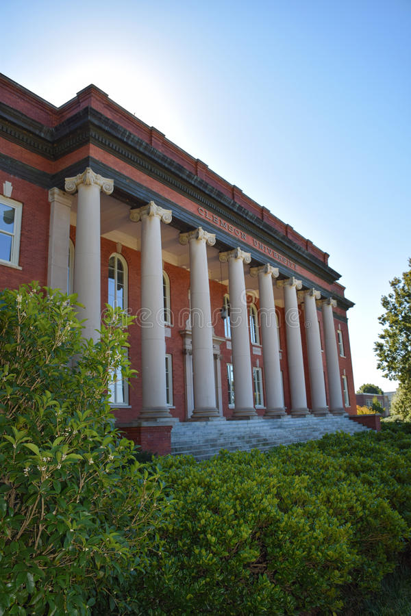 Sikes Hall on Clemson University Campus royalty free stock images