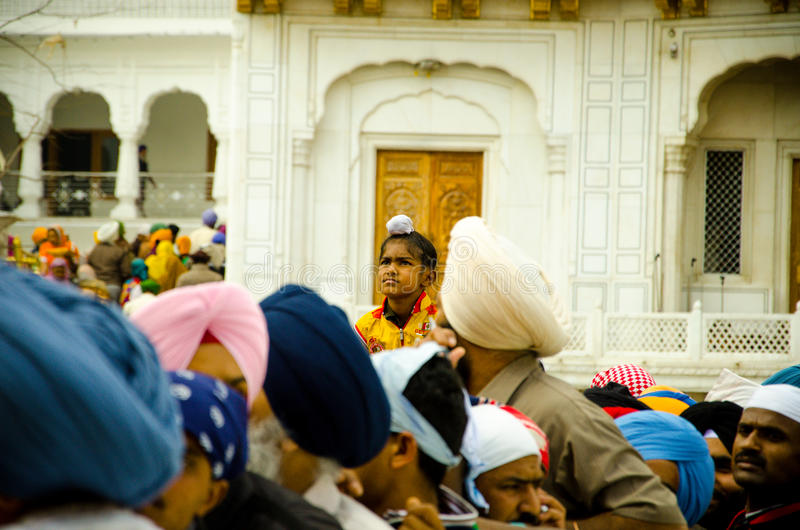 Download A Sikh Boy At Golden Temple Crowd Editorial Stock Image - Image of sahib, procession: 39507494