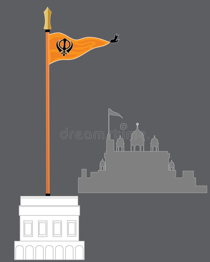 Sikh Temple Guard Stock Vector Illustration Of Gurdwara
