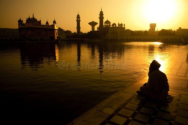 Sikh gebed stock afbeelding
