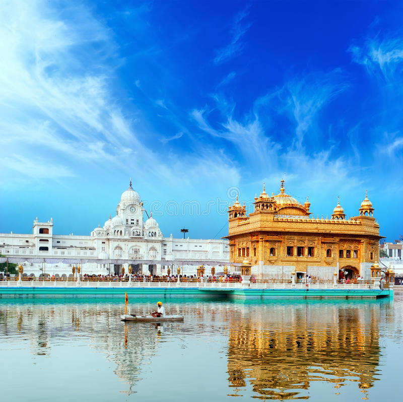 Free Sikh Golden Palace In India Royalty Free Stock Photography - 31994437