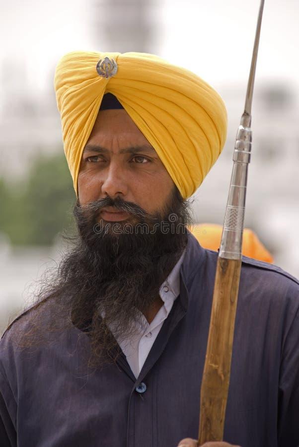 Free Sikh Guard, Amritsar, Punjab, India Royalty Free Stock Image - 14896186