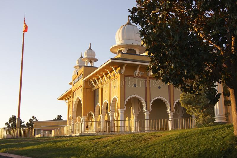 Sikh Gurdwara San Jose (zijaanzicht) royalty-vrije stock afbeelding