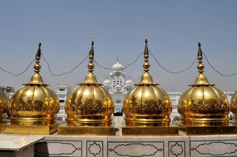 Sikh holy Golden Temple in Amritsar, Punjab, India royalty free stock photography
