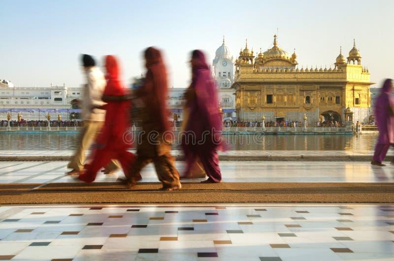 Sikh pelgrims royalty-vrije stock afbeeldingen