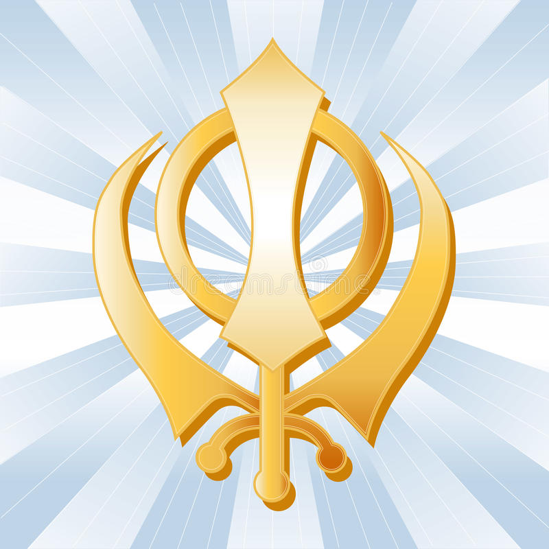 Sikh Symbol stock illustration