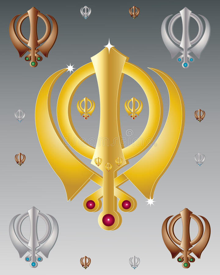 Sikh symbol stock illustration
