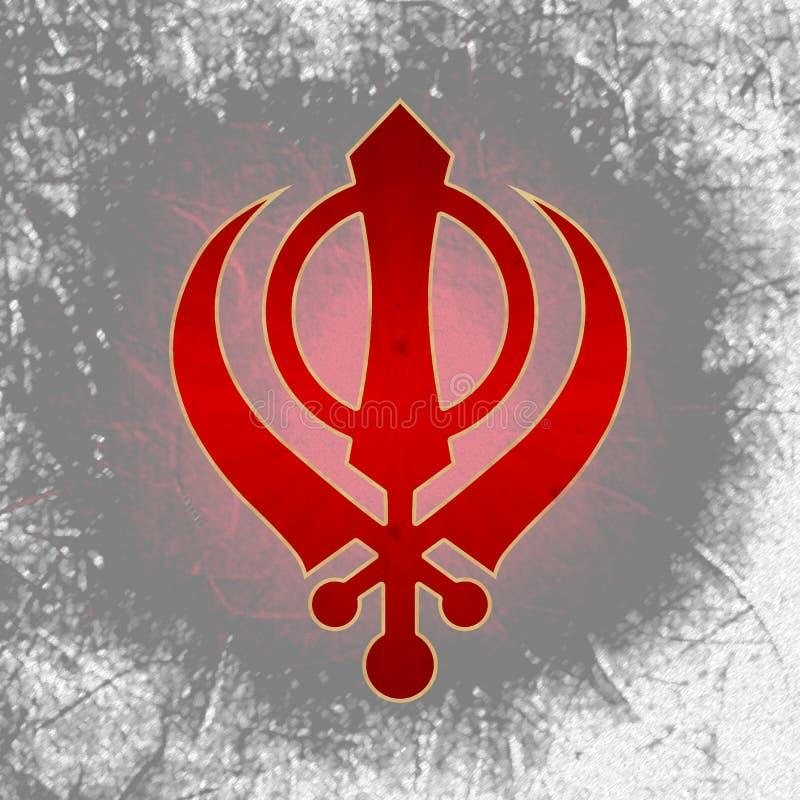 Sikh Symbol Black Grunge Stock Illustration Illustration Of Grey