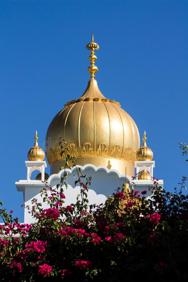 Sikh temple golden dome stock images