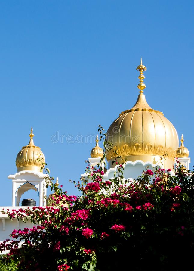 Sikh temple golden dome royalty free stock photography