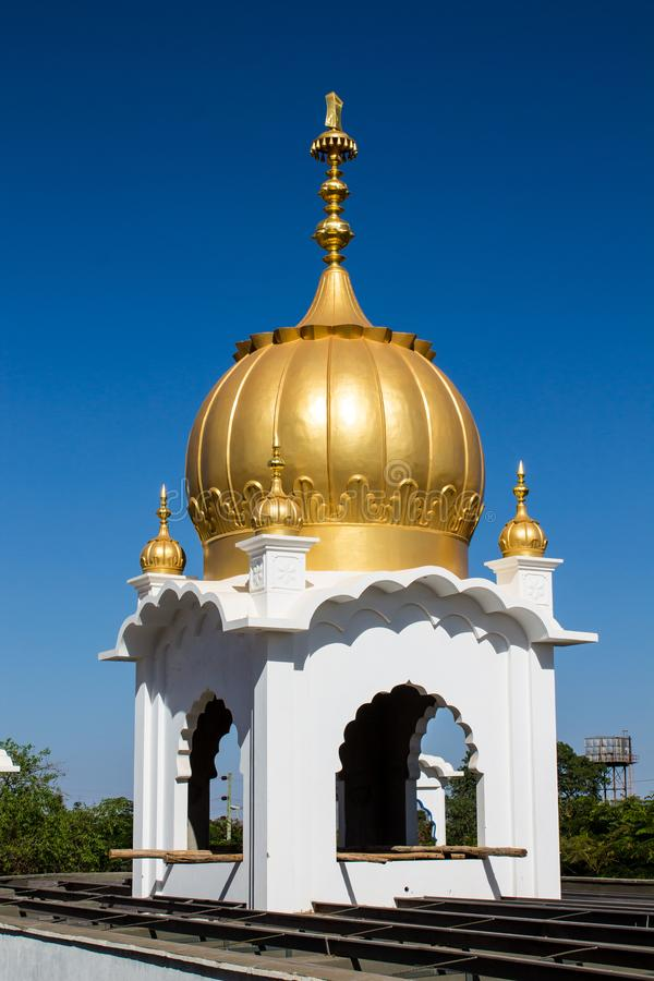 Sikh temple golden dome on temple roof royalty free stock photos